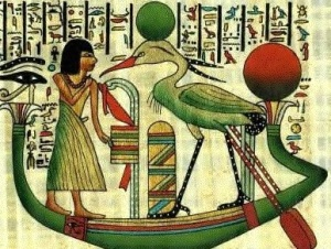 "Egyptian rendering of ""Benu"" bird."